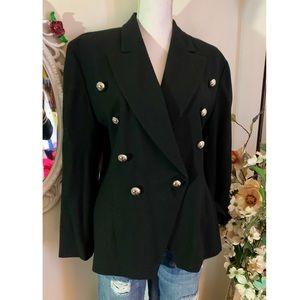 Ellen Tracey double breasted blazer in Black
